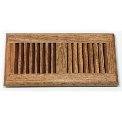 "Moldings Online 5.63"" x 11.25"" Red Oak Wood Surface Mount Vent Cover"