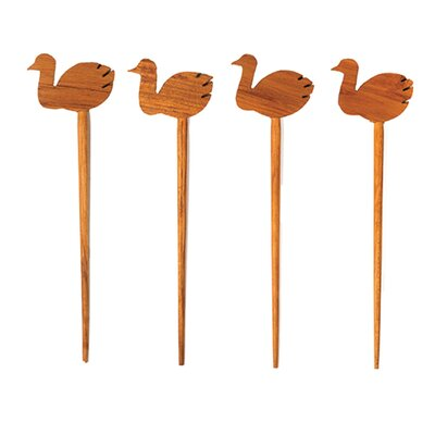 Teak Pick with Geese by Be Home