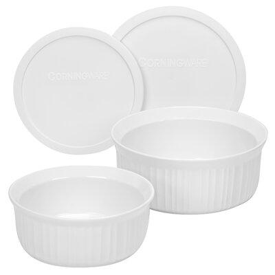Corningware French White 4 Piece Bakeware Set