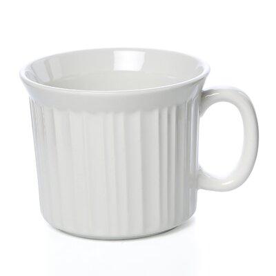 Corningware French White 20 oz. Mug with Vented Plastic Cover