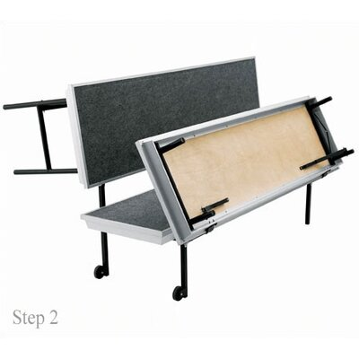 National Public Seating Three-Level Trans-Port Choral Risers