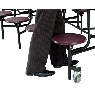 National Public Seating Mobile Cafeteria Stool-Table