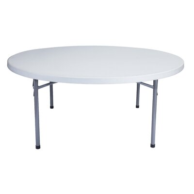 """National Public Seating Blow Molded 71"""" Round Folding Table"""