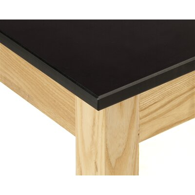National Public Seating Phenolic Top and Dual Book Compartments Science Lab Table