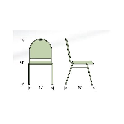 National Public Seating Series 9200 Dome-Back Stacker Chair