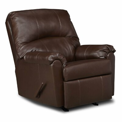 Windsor Bonded Leather Rocker Recliner by Simmons Upholstery