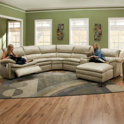 Editor Bonded Leather Sectional by Simmons Upholstery