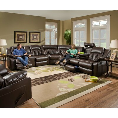 Sebring Leather Sectional by Simmons Upholstery