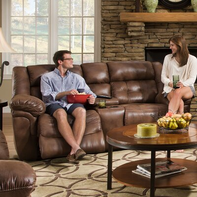 Simmons Upholstery UFI2903 Wisconsin Beautyrest Motion Console Loveseat