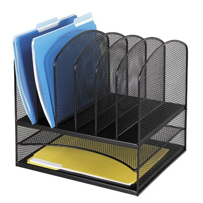 """Safco Products Company Mesh Desk Organizer, Eight Sections, 13.5"""" Wide"""
