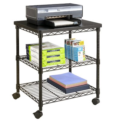 Safco Products Company Desk Side Wire Printer Stand