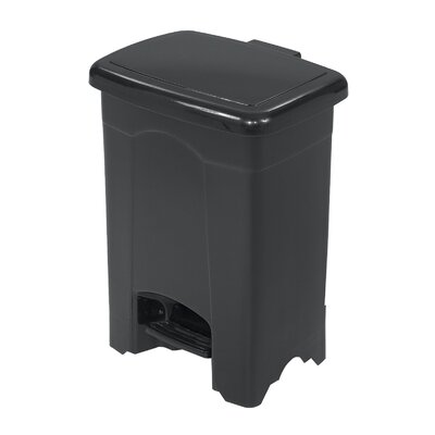 Safco Products Company 4-Gal Plastic Step-On Trash Receptacle