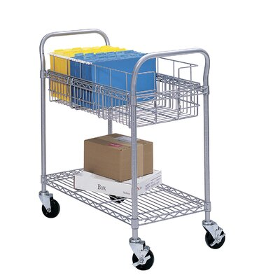 Safco Products Company Wire Mail Cart