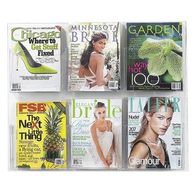 Safco Products Company 6 Pocket Magazine Rack