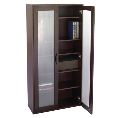"Safco Products Company Apres Modular Storage Tall Cabinet 59.5"" Barrister Bookcase"