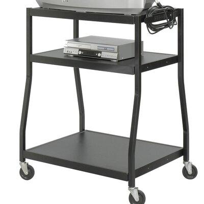 Safco Products Company 3-Shelf Wide Base AV Cart
