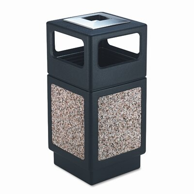 Safco Products Company Canmeleon 38-Gal Series Outdoor Aggregate Panel Side Opening Receptacle with Urn (Large)