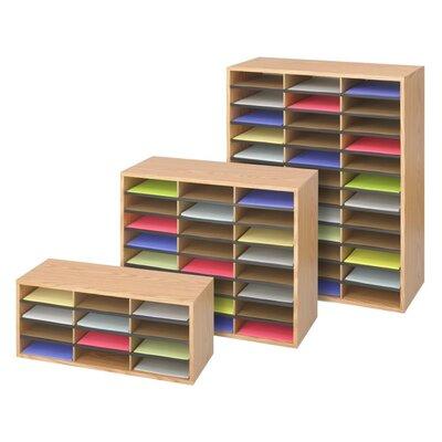 Safco Products Company Small Wood/Corrugated Literature Organizer