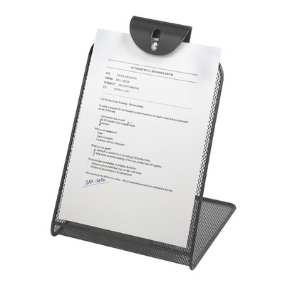 Safco Products Company Onyx Mesh Copyholder with Steel Ball Fastener