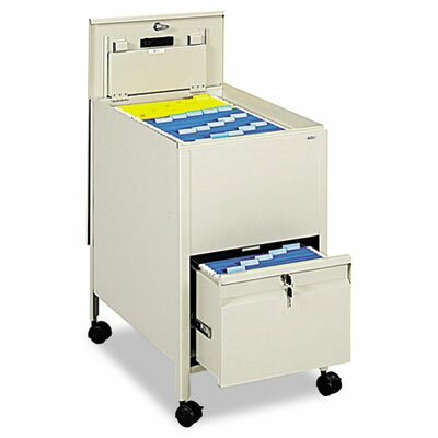 Safco Products Company Safco Locking Mobile Tub File with Drawer, Letter