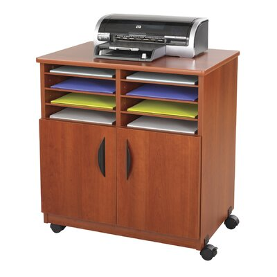 Safco Products Company Mobile Printer Stand with Sorter Compartments