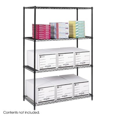 Safco Products Company Industrial 4 Shelf Shelving Unit Starter