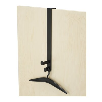Safco Products Company Over the Door Double Hook with Hangers in Black