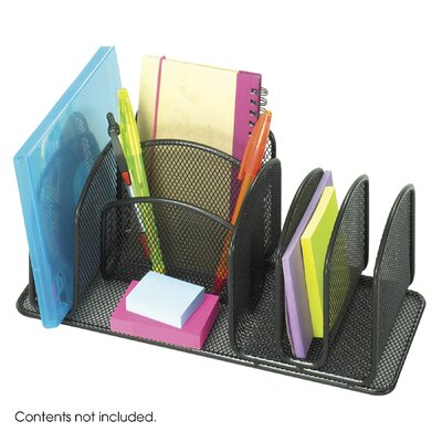 Safco Products Company Onyx Deluxe Organizer in Black