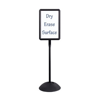 Safco Products Company Magnetic/Dry Erase Steel Double Sided Sign, Magnetic/Dry Erase Steel