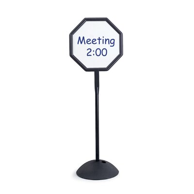 """Safco Products Company Magnetic/Dry Erase Steel Double Sided Sign, Magnetic/Dry Erase Steel, 18.25"""" Wide"""