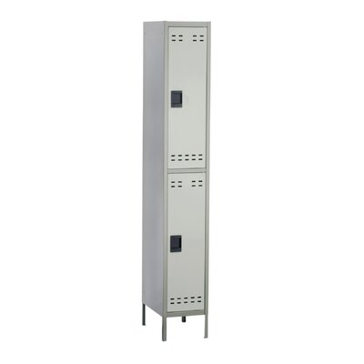 Safco Products Company 2 Tier 1 Wide Contemporary Lockers
