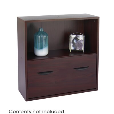 """Safco Products Company Apres Modular Storage Shelf with Lower File Drawer 29.75"""" Standard Bookcase"""
