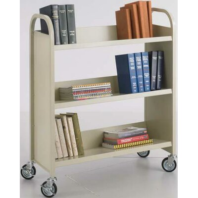 Safco Products Company Single-Sided Book Cart