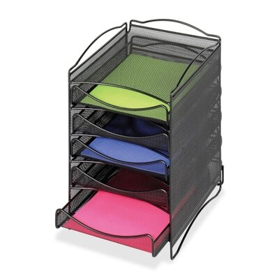 Safco Products Company Onyx 5 Drawer Mesh Literature Organizer