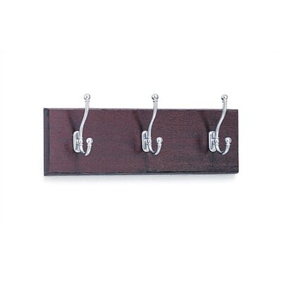 Safco Products Company 3 Hook Wood Coat Rack