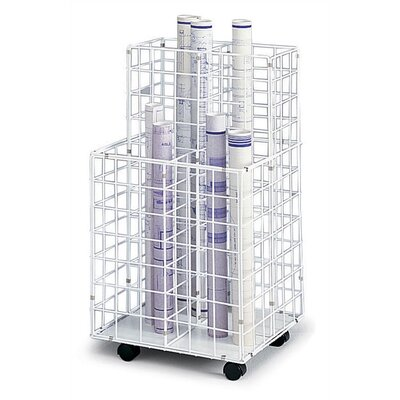 Safco Products Company Wire Roll Files Filing Cart