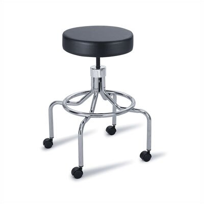 Height Adjustable Lab Stool with 2 Swivel Casters by Safco Products