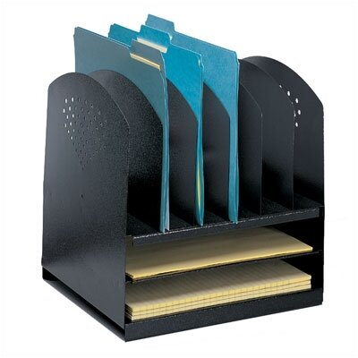 Safco Products Company Combination Desk Rack 6 Upright/ 2 Horizontal