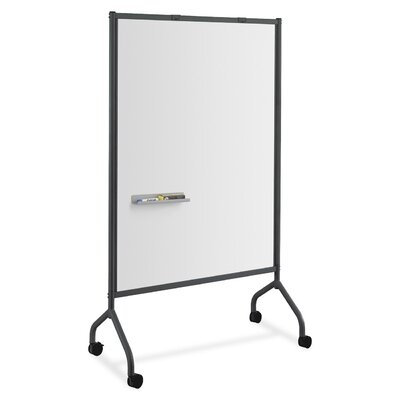 Safco Products Company Screen Mobile Free Standing Whiteboard, 6' x 3'