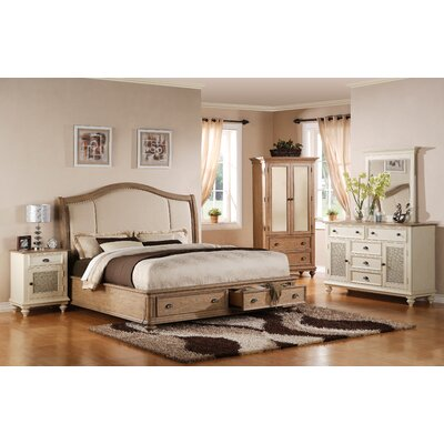 Riverside Furniture Coventry Upholstered Storage Panel Bed