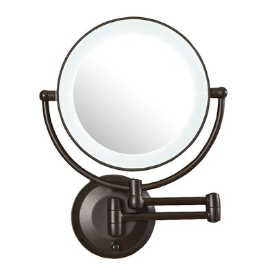 zadro led lighted 1x 10x magnification wall mount mirror. Black Bedroom Furniture Sets. Home Design Ideas