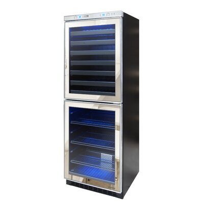 Mirrored 54 Bottle Dual Zone Built-In Wine Refrigerator by Vinotemp