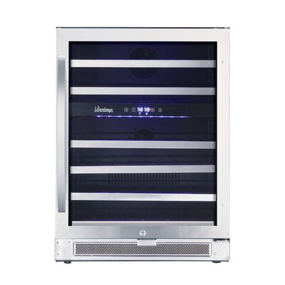 Connoisseur 46 Bottle Dual Zone Built-In Wine Refrigerator by Vinotemp