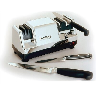 Hone Diamond Coated Stainless Steel Electric Knife Sharpener by Chef's Choice