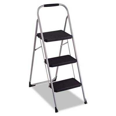 Cosco Home and Office 3-Step Steel Big Folding Step Stool with 200 lb. Load Capacity