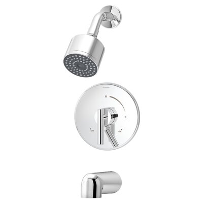 Dia Pressure Balance Tub and Shower Trim with Lever Handle Product Photo