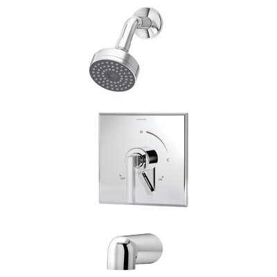 Duro Pressure Balance Tub and Shower Faucet Trim with Lever Handle Product Photo