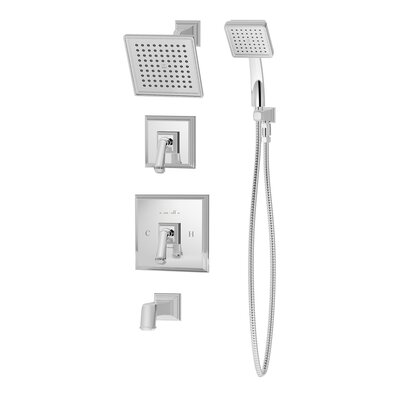 Oxford Pressure Balance Tub and Shower System with Lever Handle Product Photo