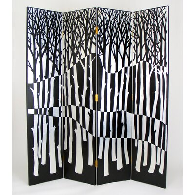 "Wayborn 72"" x 64"" Forest 4 Panel Room Divider"