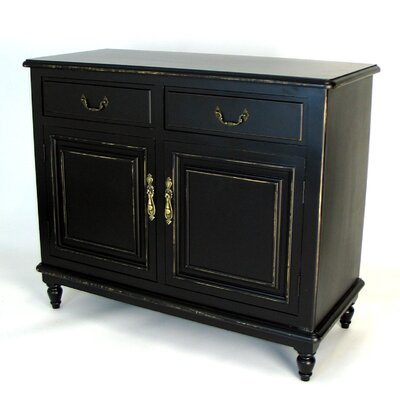 Buffet Cabinet in Distressed Antique Black by Wayborn